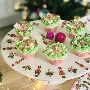 Festive Christmas Wreath Cupcakes