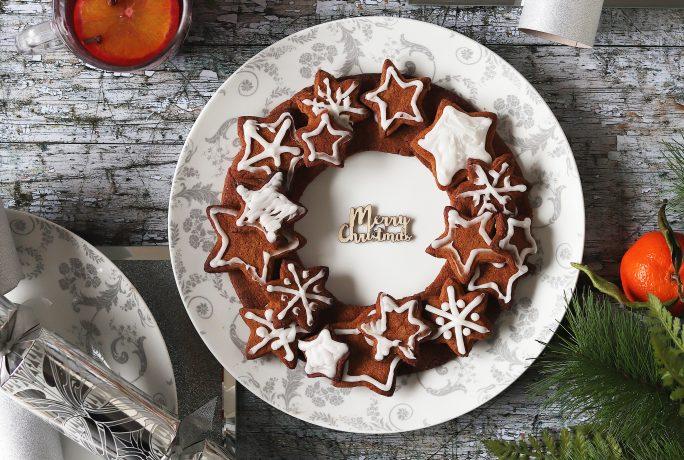 Festive cookie wreath recipe