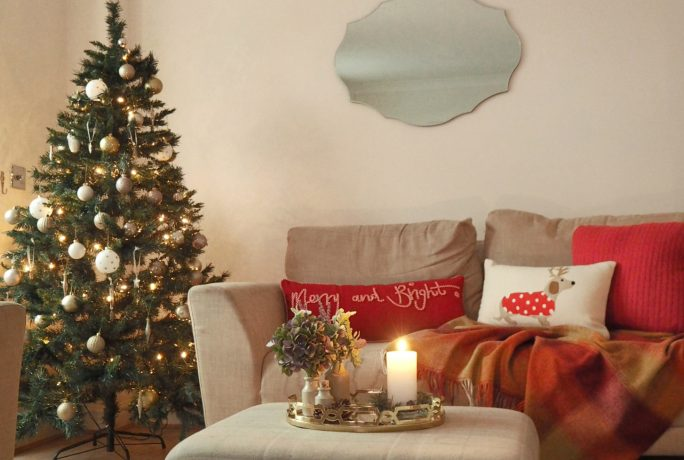 How to style your sofa for Christmas